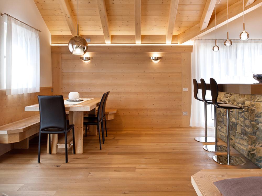 Casa lucente luce e legno per confort e risparmio energetico